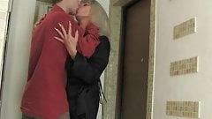 nice blonde milf fucks young guy