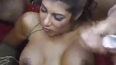 Jasmin St Claire goes airtight in gangbang