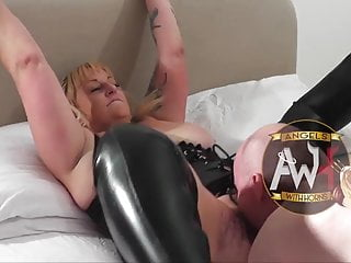 Gangbang 6 British bareback milf slut squirts as gangbanged by 6 guys