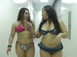 Young busty 2 cast 2 thick chubby latinas sucking and fucking