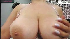 Beautiful big tits cam show big areola