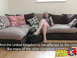Euro twink in Fakeagentuk filthy euro chick gets anal creampie on casting