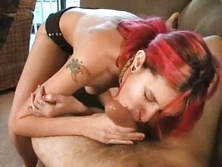 Redhead milf on couch Freaky redhead amateur chick gets anal fucking on couch