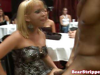 Drunkwomen suck fuck black stripper - Cfnm babe sucking strippers black cock