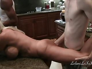 Orgy video milf Kitchen shenanigans with milfs and bbc