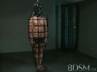 Women caged in bondage - Bdsm xxx caged sub signs his body mind into his mistresses