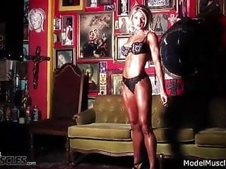 Pose hot muscle gay Abby marie pulls some stunning hot muscle poses