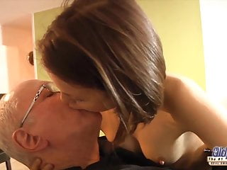 Oldje the orgasm queen Sexy 18yo fucked by old man with intense orgasm and facial
