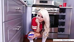 Tube-socks wearing blondie takes a big one - Naughty America