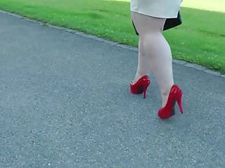 All red on the bottom of your shoes - Walking red shoes
