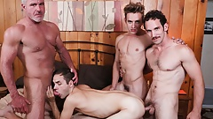 Twink Boy Stepson Family Pounding By Stepdad Grandpa And Dad