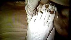 cum on my ex gf's feet