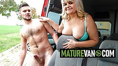Chubby granny picks up young cock in Mature Van