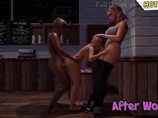 Shemale and guy fuck girl 3d threesome - ebony guy and shemale mommy fucks girl, futa