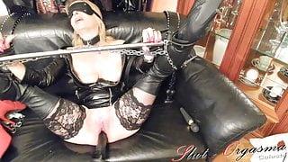 Slave Slut-Orgasma Celeste Fuck Machine torture anal squirt