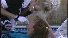 Blonde and brunette in nasty lesbian strap-on fun