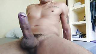 Latin hung showing his big cock