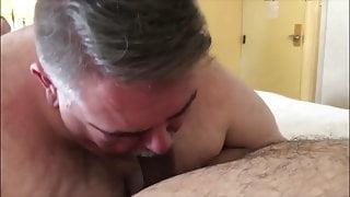 Big daddy sucks cock
