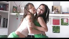 Hot teen coed plays with a friend. 3