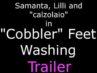 Apron cobbler vintage - Ui042- cobbler feet washing- foot fetish
