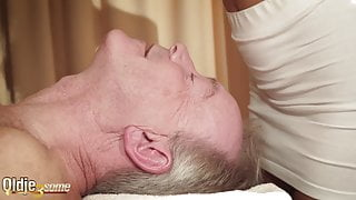 Best old young threesome horny old man that wants to fuck
