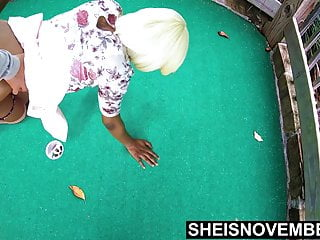 Blow job on the golf course Msnovember dogging with her boyfriend on mini golf course hd