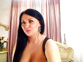 Adult pasties Busty camgirl wears pasties too small to cover large areolas