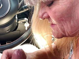 Nasty granny shemale porn My new nasty granny sucking my fat cock in my car