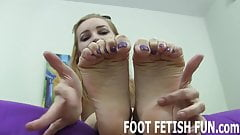 I will make your cock so hard with my feet