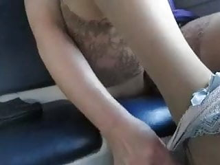 Panties and pussy video Stockings, panties and pussy in a train