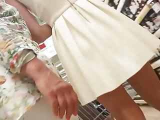 Pov blowjob teen yellow dress - Upskirt yellow dress