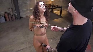 Teeny New Whore Victoria Voxx Tied in Rope and Rough Fucked
