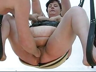 Xxx swinge Bbw mom fisted on the swing and the sofa