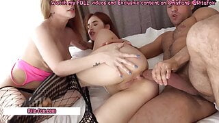 Very hot sex two beauties and a man with a big dick pt.2