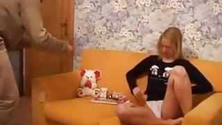 Klaartje gets her birthday present