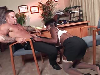 Cum naughty office - Naughty ebony boss fucks her employee in her office