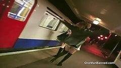 Daring British teens flashing in London