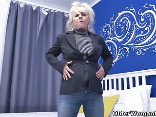 Lower vaginal Euro gilf koko lowers her jeans and rubs her pussy