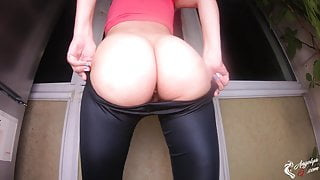 Perfect Body Girl Trying on Pants and Shows Her Sexy Butt