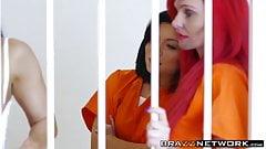 Prison babe having rough anal pounding