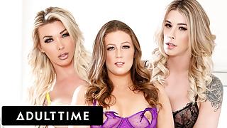 Trans Babes Take Turns Jizzing During Threesome