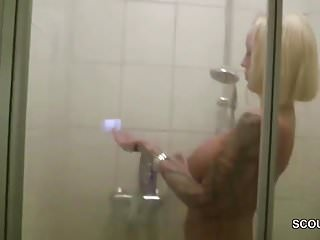Seduce fuck hot girls video - German hot milf caught in shower and seduce to fuck