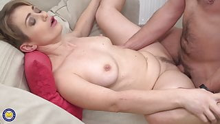 Real MILF suck and fuck lucky young guy