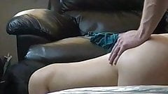 Asian MILF and a white guy make a home made sex tape