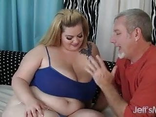 Fat sasha escort Pretty plumper sasha juggs takes on a fat cock.