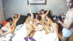 A Cheerful Group Sex Amateur Russian Teenagers Cam Show
