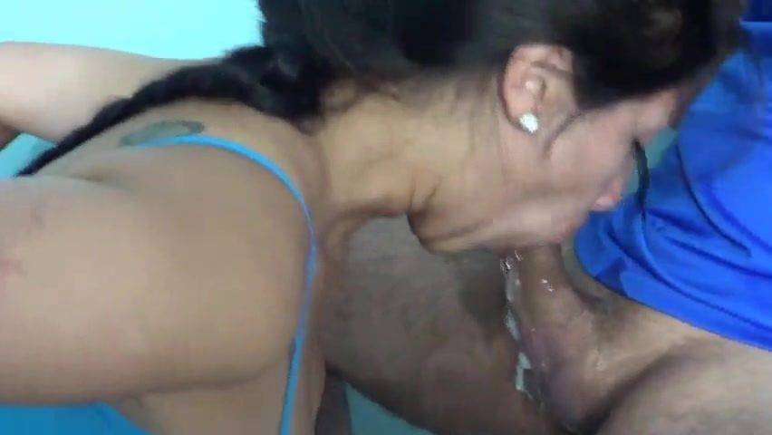 Big Latina Teen Blowjob