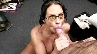 Big tit babe Harley Raine blowjob