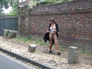 Bourbon nude street Nude in street