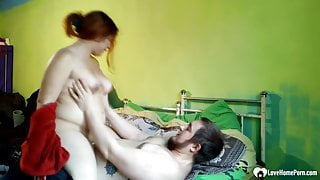 Hot stepsister helps him out with her slit